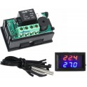 Modulo Termostato encastravel LED duplo DC12V Digital -50ºC 110ºC
