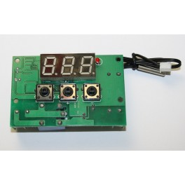 Modulo termostato 12V mostrador LED rele e sonda a prova de agua