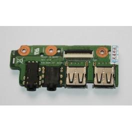 90R-N0ZVG1200Q Placa USB Audio Jack Asus N55S N55SF\