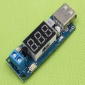 Modulo dc-dc step down display led voltimetro 5v para carregador ou diy arduino raspberry