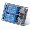 Modulo 2 canais rele optoisolada PIC AVR ARM MCU arduino raspberry