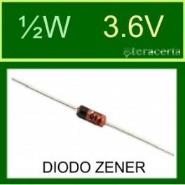 Diodo Zener ½W 3.6V
